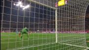 Rigore in movimento per Pandev che con il suo goal regala il pareggio al Napoli