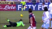 Marchetti para il diagonale di Gilardino e salva la Lazio a Bologna