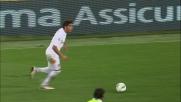 Libero nell'area del Genoa Borini appoggia la palla in goal