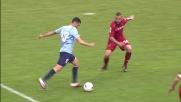 Dribbling e palo per Candreva contro il Cagliari