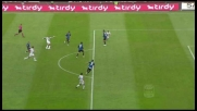Il tiro di Pepe si stampa sul palo contro l'Atalanta