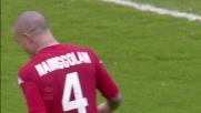 Nainggolan, tiro sballato contro il Siena