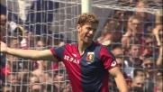 Nel derby di Genova Ansaldi non va per il sottile e la mette in calcio d'angolo