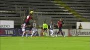 Nené svetta di testa e porta in vantaggio il Cagliari contro il Siena
