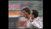 Nervo firma il goal del pari per il Bologna contro il Milan