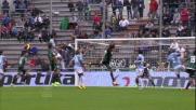 Nessuno marca Schelotto che realizza di testa il goal che accorcia le distanze contro la Lazio