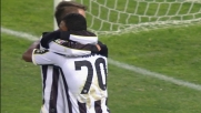 Nico Lopez non sbaglia davanti a Curci: è il goal del 2-0 per l'Udinese al Dall'Ara