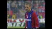 Grande punizione di Baggio e bella parata in tuffo Roccati