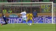 Candreva non concretizza il contropiede della Lazio a San Siro