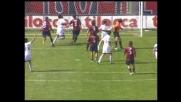 Di Michele segna di testa: il Palermo trova il goal del pareggio con il Cagliari