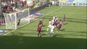 Milanetto salva sulla linea la porta del Genoa respingendo di testa