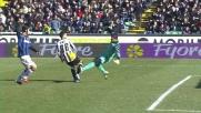 Castellazzi chiude la porta a Pinzi e salva l'Inter dal goal dell'Udine)