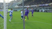 Zoboli alza la conclusione di Gilardino ed evita il goal della Fiorentina