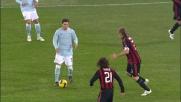 Zarate e Meghni al limite dell'area fanno ballare la difesa del Milan