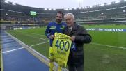 Pellissier festeggia le 400 presenze con la maglia del Chievo