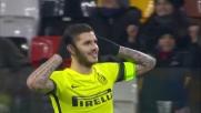 Icardi fulmina Karnezis con un bolide di destro: 3-0 per l'Inter al Friuli