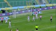 Il goal in tap-in di Bovo fa esultare di gioia Palermo