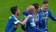 Maccarone segna il goal del pareggio contro il Milan a San Siro