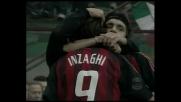 Rivaldo sbaglia il rigore, Inzaghi segna sulla ribattuta