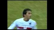 Gasbarroni segna il goal che vale il pari della Sampdoria a San Siro con la complicità di Dida