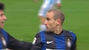 Palacio controllo e tiro: è il goal del vantaggio dell'Inter