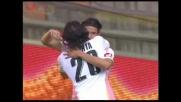 Palermo in vantaggio a Genova con un goal di Cavani