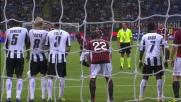Palo di Seedorf contro l'Udinese
