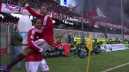 Palo interno e goal al Cesena per il Milan grazie al tiro di Emanuelson