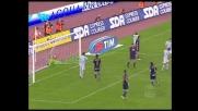 Pandev, destro deviato sulla traversa contro il Napoli