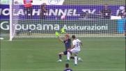 Pandev prova il pallonetto con la Fiorentina ma calibra male il sinistro