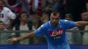 Pandev trova un angolo impossibile per il goal della doppietta al Genoa