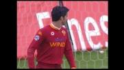 Panucci nega il goal a Quagliarella: salvataggio della Roma