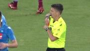 Parolo in pressing entra in ritardo e viene espulso: Lazio in 10 al San Paolo