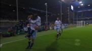 Parolo realizza il secondo goal della Lazio contro la Sampdoria