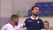 Parolo sfortunato contro il Genoa: il suo destro viene respinto dal palo