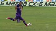 Pasqual pennella una punizione che termina sul palo dell'Udinese