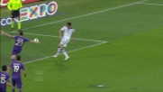 Pasqual salva la Fiorentina in extremis respingendo il pallone sulla linea