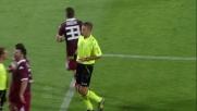 Pasquale non riesce a fermarsi e commette fallo da rigore contro il Milan