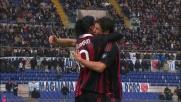 Pato capitalizza il perfetto cross di Ronaldinho: è il goal del 2-0 per il Milan