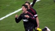 Pato segna il goal del raddoppio del Milan a Bari