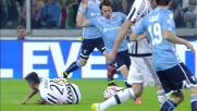 Patric trattiene Dybala e si prende la seconda ammonizione: Lazio in 10 allo Juventus Stadium