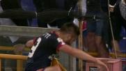 Pavoletti con caparbietà realizza un goal di sinistro contro il Torino