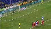 Pazzini porta in vantaggio la Sampdoria su calcio di rigore