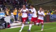 Pazzini segna su rigore e porta in vantaggio il Milan al Dall'Ara
