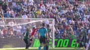 Felipe di testa colpisce la traversa contro il Sassuolo