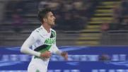 Pellegrini sorprende il Cagliari con il goal del 2-1 del Sassuolo