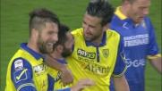 Pellissier firma la doppietta con il Frosinone trasformando in goal l'assist di Pepe