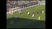 Pepe segna di testa il goal del raddoppio del Cagliari nellsa sfida con l'Atalanta