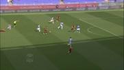 Perotti colpisce il palo con un gran destro nel derby di Roma