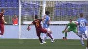 Perotti fa tutto da solo per il goal che chiude il derby a favore della Roma